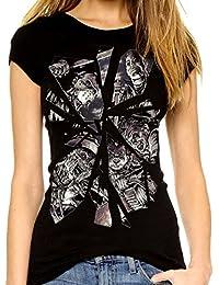 Darkside Clothing - T-shirt - Femme Noir Noir