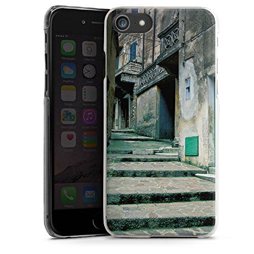 Apple iPhone X Silikon Hülle Case Schutzhülle Gasse Gebäude Treppe Hard Case transparent