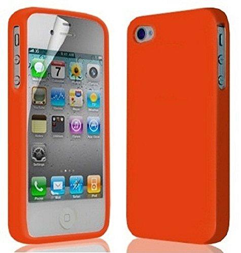 Great Deals on Click Sales, IPhone di Apple 4 4G 4S, orange, Gel molle del silicone di, Case, Cover, Copertura, Custodia, gomma flessibile della copertura della pelle della CASSA del SACCHETTO + PEN S arancione