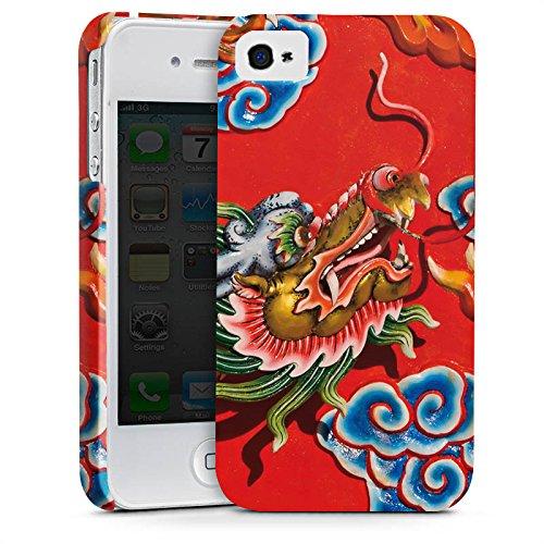 Apple iPhone X Silikon Hülle Case Schutzhülle China Drache Muster Premium Case glänzend