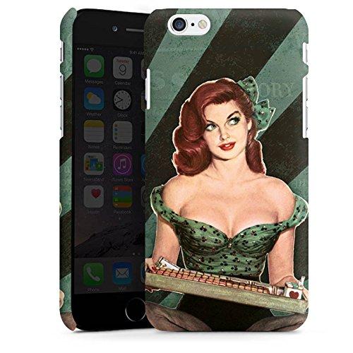 Apple iPhone X Silikon Hülle Case Schutzhülle Pinup Girl Frau Retro Premium Case matt