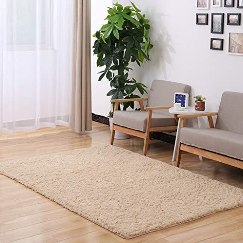 Ann-Rugs Teppich für Wohnzimmer, rechteckig, einfarbig, einfarbig, modern, Wohnzimmer, Couchtisch, niedlicher weicher Teppich (100 x 200 cm), Materialmix, Light Camel, 100 * 200cm(3.3 * 6.5ft) -