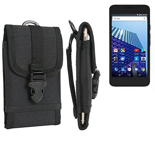 K-S-Trade Handyhülle für Archos Access 55 3G Gürteltasche Handytasche Gürtel Tasche Schutzhülle Robuste Handy Schutz Hülle Tasche Outdoor schwarz