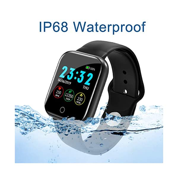 Smartwatch, Reloj Inteligente Mujer Hombre Pulsera de Actividad Inteligente Impermeable IP68 Pulsómetros Podómetro Monitor de para Sueño Calorías, para iPhone Android Xiaomi Samsung Huawei 6