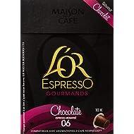 L'OR ESPRESSO Gourmands Chocolate 10 capsules compatibles avec les machines à café Nespresso - Lot de 4 (40 capsules)