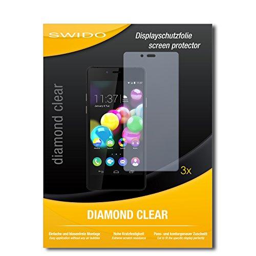 SWIDO 3 x Schutzfolie Wiko Highway Pure Bildschirmschutz Folie DiamondClear unsichtbar