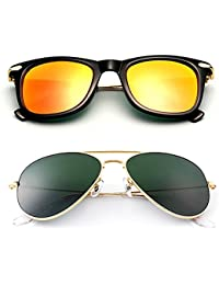 5ea51b5674d Younky Offers Combo Pack Of 2 Stylish Branded Sunglasses For Men Women Boys    Girls (