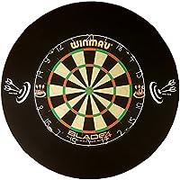 Roleo Dart Auffangring Catchring Surround schwarz 4-teilig, neues Design