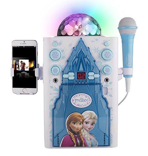 Preisvergleich Produktbild Kinder Disco Ball Karaoke Maschine Portable Lautsprecher Kit für Kinder / Kinder Spielzeug mit Mikrofon Blinkende Bar Karaoke mit MP3-Player AUX Jack Point für Verbinden Sie Ihr iPad, iPhone, iPod, Tablet-Gerät oder den CD-Player Musik zu spielen und singen zusammen! (Gefroren)