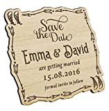 Darling Souvenir 35 Save The Date Wooden Magnet Custom Engraved Wooden Magnet Rustic Wedding Announcements Idea