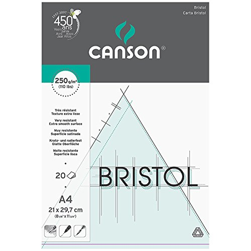 canson-bristol-250gsm-paper-high-white-ultra-smooth-a4-pad-including-20-sheets