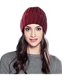 Superora Inverno Cappello Donna Lavorato a Maglia Cappelli Beanie  Intrecciato Elegante Invernale 68749ab9d99b