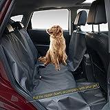 Baibu Wasserdicht Hunde Autoschondecke mit Prima Abriebfestigkeit, Robuste Auto-Abdeckung Auto-Hängematte für Hunde mit Reißverschluss,163x144cm