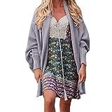 TianWlio Damen Strickjacken Mode Damen Winter Geöffnete Front der Frauen Solide Tasche Strickjacke Langarm Pullover Mantel