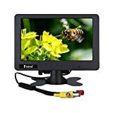 7 inch CCTV Monitor 1024 x 600 Resolution Display Portable 16:9 TFT LCD Mini FHD Color Video Screen Support BNC AV AC Input for Car LCD TV (7in 1024 x 600 LCD No HDMI VGA Port)