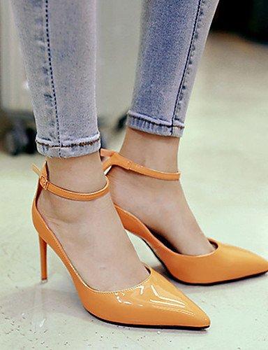 WSS 2016 Chaussures Femme-Décontracté-Noir / Jaune / Rose / Rouge / Gris-Talon Aiguille-Talons-Talons-Laine synthétique black-us5 / eu35 / uk3 / cn34