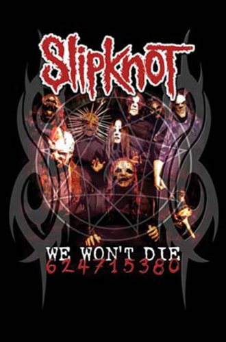 """1art1, Poster con stampa """"Slipknot - We won't die"""", 61 x 91,5 cm"""