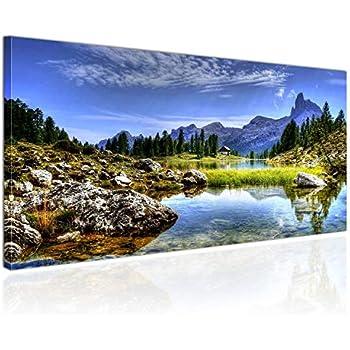 Topquadro XXL Wandbild Leinwandbild 100x50cm, Hütte in den