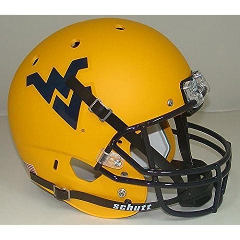 NCAA West Virginia Mountaineers Matte Gold Replica Helmet, One Size, White by Schutt