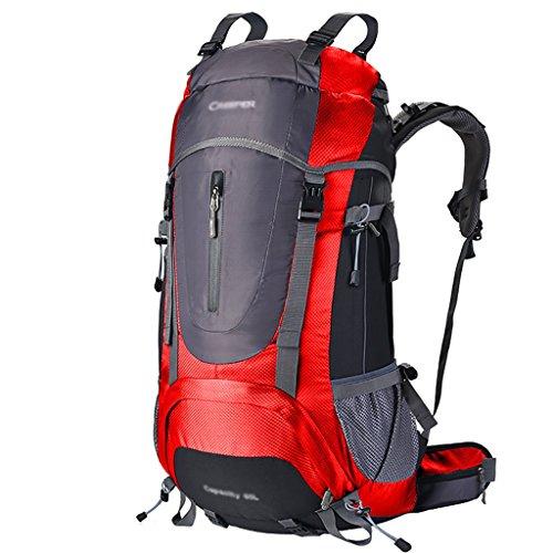 zaino trekking Maschio / femmina 60L / 70L / 80L Escursione Outdoor Borsa da spalla Tempo libero Sport Borsa da montagna Zaini da escursionismo ( Colore : N-80L-30*18*70cm ) G-60L-35*23*70cm