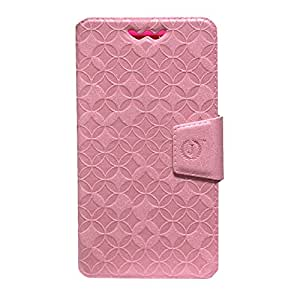 Jo Jo Cover Aarav Series Leather Pouch Flip Case With Silicon Holder For Motorola Moto G (CDMA) Light Pink