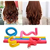 Sweet Pea 10 Big Size Pieces Self Holding Hair Curling Flexi Rods Magic Hair Roller Curler Bendy Magic Styling...