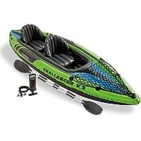 Intex - 68306Np - Jeu D Eau Et De Plage - Set Kayak Challenger K2 - 2 Personnes - Rames Et Gonfleur Inclus - 351 X 76 X 38 Cm
