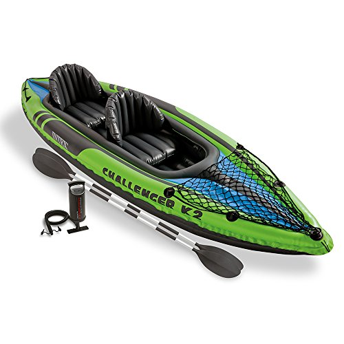 51bI2e57t0L. SS500  - Intex Challenger Kayak Inflatable Set with Aluminum Oars
