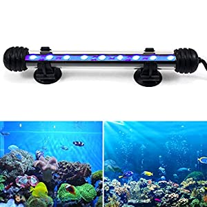 GreenSun LED Lighting 2W Submersible LED Aquarium Light, 12V 9 LEDs 5050SMD Underwater Strip Light for Fish Tank, Blue