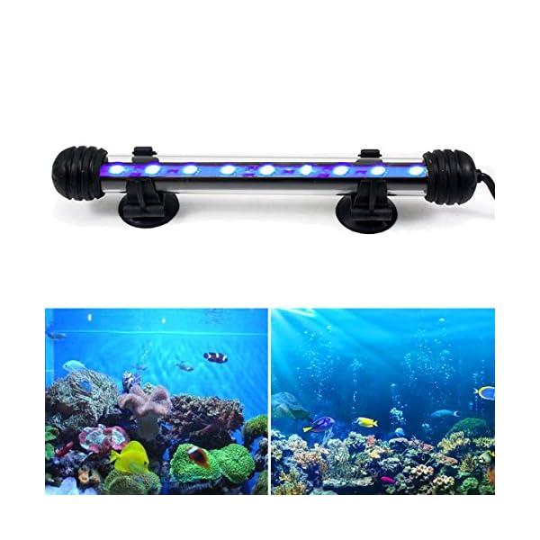 GreenSun LED Lighting 2W Submersible LED Aquarium Light, 12V 9 LEDs 5050SMD Underwater Strip Light for Fish Tank, Blue