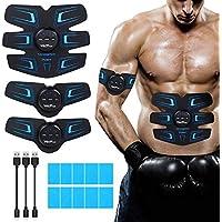 Wolfyok Bauchmuskeltrainer, EMS Trainingsgerät Professionelle EMS-Training USB wiederaufladbare Bauchmuskeln Muskelaufbau Bauchmuskel Fitness Maschine für Herren und Damen