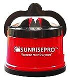 SunrisePro afilador de cuchillos , EE.UU. patentado , original , (Rojo)