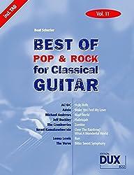 Best Of Pop & Rock for Classical Guitar Vol. 11: Inklusive TAB , Noten, Text und Harmonien