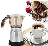 Lys Caffettiera Elettrica Moka Elettrica Portatile Caffettiera per Ufficio Macchina per caffè Espresso Adatto per 6 Tazze,150ml