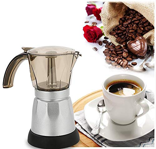 Paris LYS Elektrische Kaffeekanne Tragbarer elektrischer Mokotopf Büro Kaffeekanne Espressomaschine...