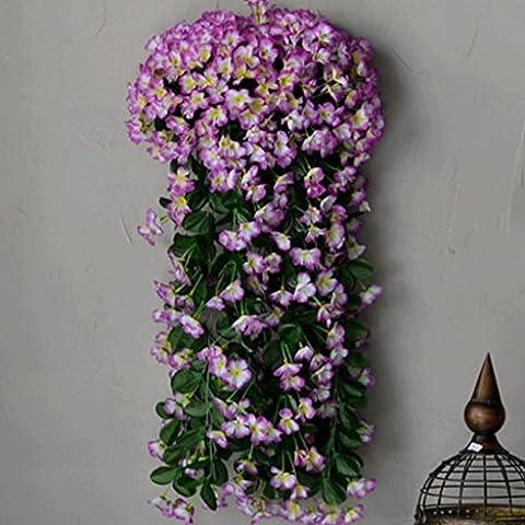 YHJ Fleurs fausses Simulation de fleur de vigne Fleur en plastique fleur de mur Hanging fleurs Salon Balcon Rampes Clôture Décoré rotin Vines ( Couleur : G