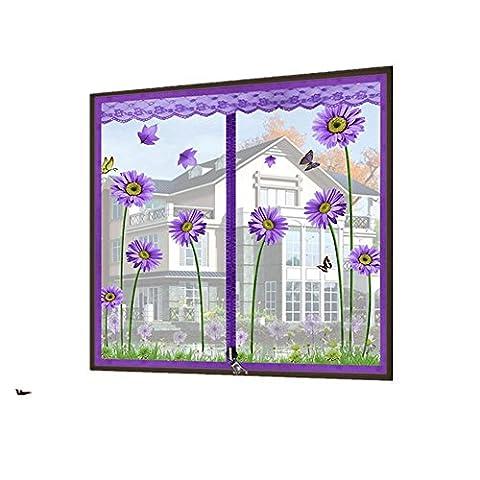 Zipper Anti - Moskitonetze Bildschirme Bildschirme Netz Vorhang Anti - Moskito Sieb Netz Sand Fenster Netz magnetisch unsichtbare Vorhänge Bildschirme Netzwerk , 1 , (Luft Zipper)