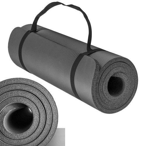 SPORTS Preminum NBR (Nitrilkautschuk) 1,5 cm 15 mm Dick und Superweich Bodenmatte Matte Sportmatte Unterlegmatte Yogamatte Gymnastikmatte (Anthrazit)