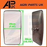 APUK Side Wing Mirror Head 40cm x 20cm Truck Lorry Bus Tractor 16 x 8 with Glass