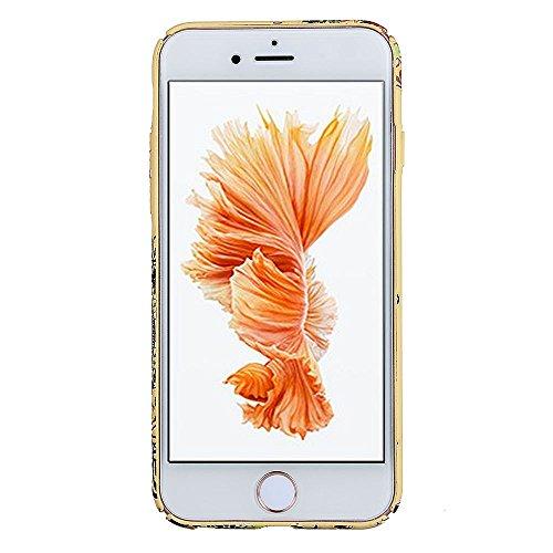 """Hüllen für iPhone 7, CLTPY iPhone 7 Luxus Mehrfarbiges Neue Motiv Harte Plastik Cover mit Removable Gold Plating Bumper, Schlank & Leicht [3-im-1] Antirutsch Premium-Schutz Fall für 4.7"""" Apple iPhone  Farbige Blume 6"""