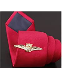 XeibD Elegant Mens Vintage Krawattenklammer Set Classic für Männer Krawattennadel Clip für Regelmäßige Krawatten (Golden)