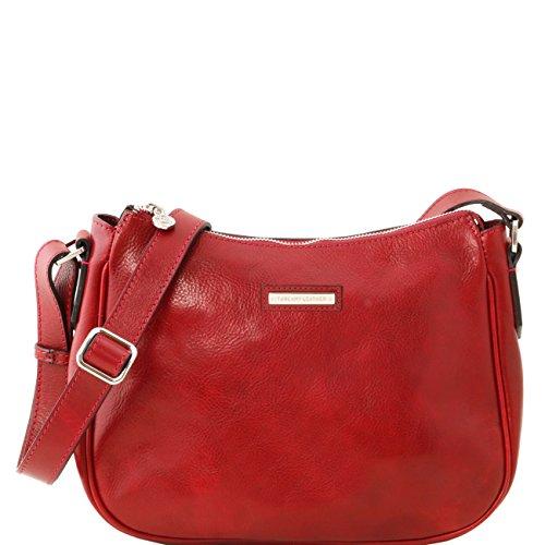 de4b359bd5 Tuscany Leather Cristina - Borsa a tracolla in pelle Testa di Moro Borse  donna a tracolla