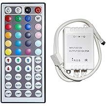 XKTTSUEERCRR 44 Key IR Mando a distancia & Controlador para tiras LED RGB (SMD 35285050)