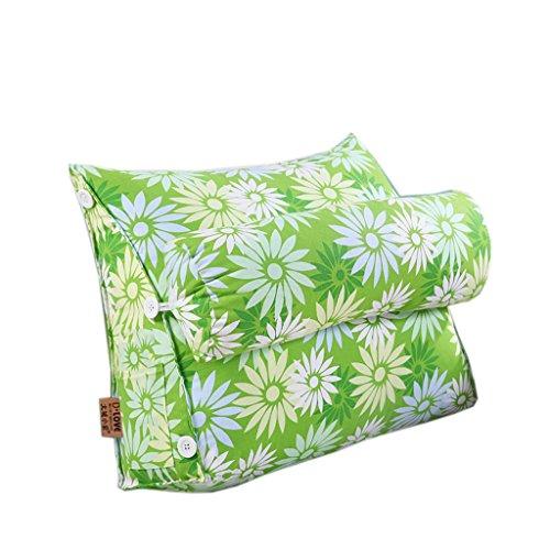 Dossier De Chevet Modern Triangle Sofa Cushion Design ergonomique avec oreiller à tête amovible Coussin de chevet Pure Color Slow-rebound Backrest Pillow Flower Pattern 45 * 50cm (Couleur : I)