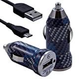 Seluxion - Chargeur voiture allume cigare USB avec câble data avec motif CV04 pour BlackBerry : 8520 Curve / 8900 Curve /9300 Curve 3G / 9320 Curve / 9360 Curve / 9380 Curve / 9700 Bold / 9780 Bold / 9790 Bold / 9800 Torch / 9810 Torch / 9860 Torch / 9900 Bold Touch / PlayBook