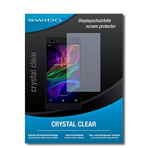 SWIDO Schutzfolie für Razer Phone [2 Stück] Kristall-Klar, Hoher Härtegrad, Schutz vor Öl, Staub & Kratzer/Glasfolie, Bildschirmschutz, Bildschirmschutzfolie, Panzerglas-Folie