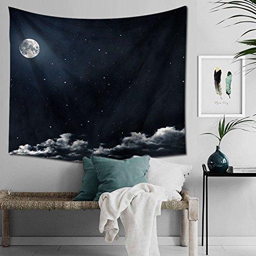 COLDTUTU-Dekorative Polyster Wand hängende Tapisserie Strand Handtuch Wand Dekor böhmische Tagesdecke Druck Tapisserie,Sterntuch, 150H * 200Wcm