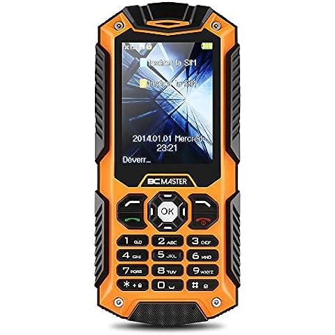 BC Master IP68 teléfono móvil del teléfono impermeable a prueba de polvo a prueba de choques al aire libre celular reforzado dual