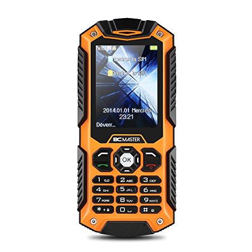 BC Master Cellulare Impermeabile Antipolvere Antiurto, Tri-Proof Telefono, Doppia SIM Rinforzato IP68 all'Aperto, Alta Qualià e Facile da Usare e Portare(Arancione)