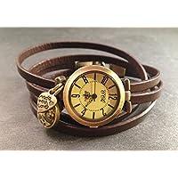 Uhr Bronze Braun Blüte Weiß